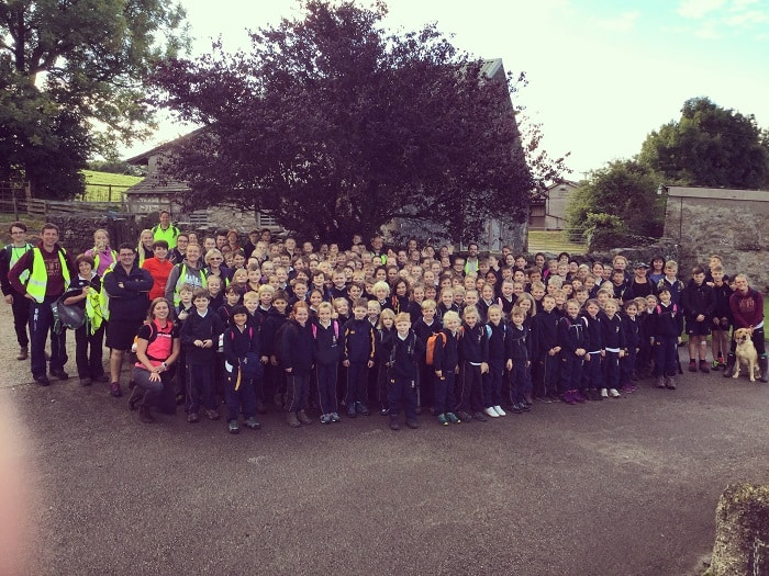 Sponsored Walk 2017 Sedbergh Junior School Students 4