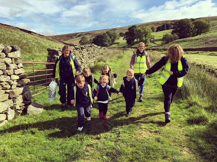 Sponsored Walk 2017 Sedbergh Junior School Students 6