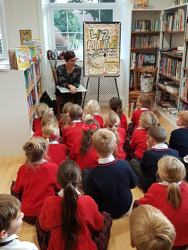 Liz Million Author & Illustrator Visits Sedbergh Prep Sedbergh Juniors 4