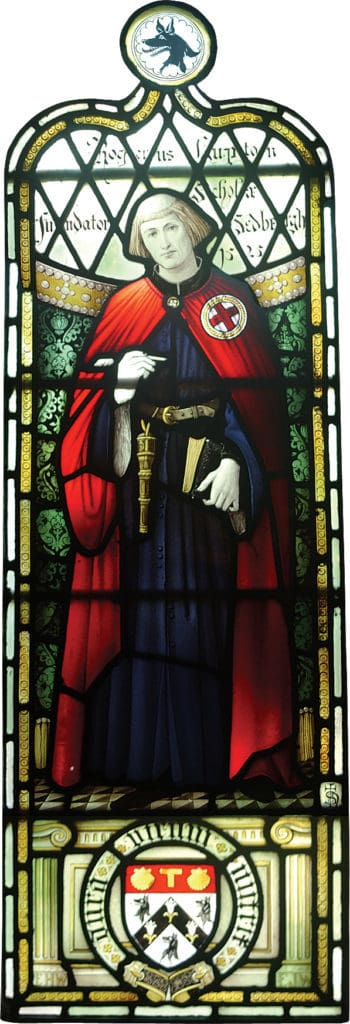 Sedbergh Senior School - History and Heritage Roger Lupton Stained Glass Window