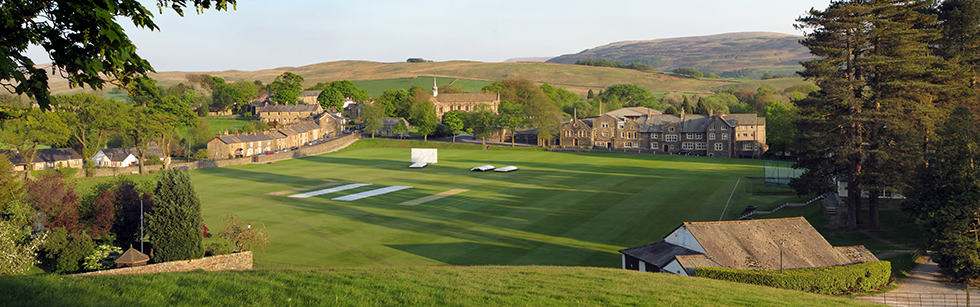 Sedbergh Senior School - Cricket Pitch Pano