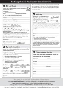 Sedbergh Senior School - Foundation Donation Form