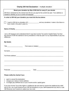 Sedbergh Senior School - Foundation Gift Aid Form