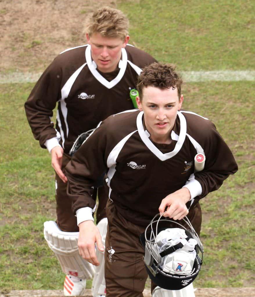 Sedbergh Cricket Harry Brook And Chris Sanders