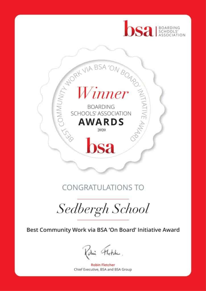 Winner Best Community Work Via Bsa On Board Initiative