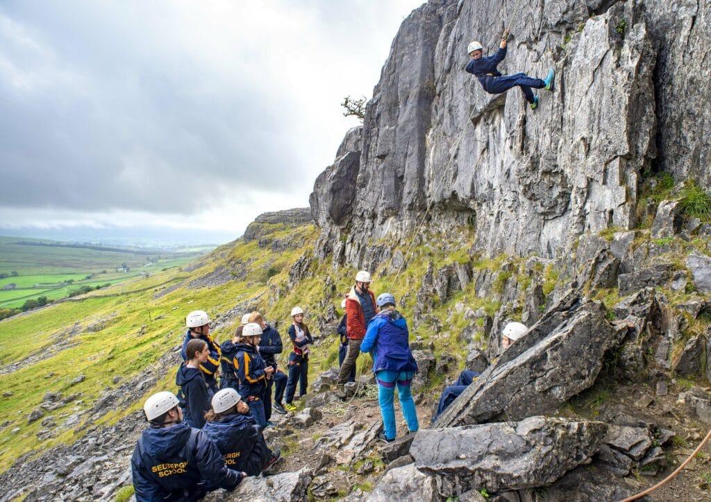 Sedbergh School Pupils Enjoying Climbing