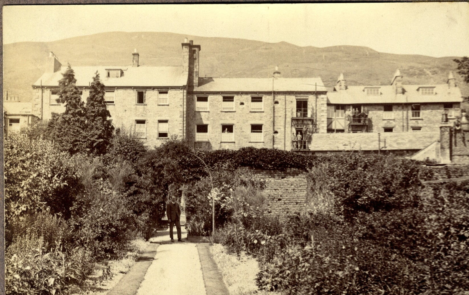 Evans House And Garden C.1920