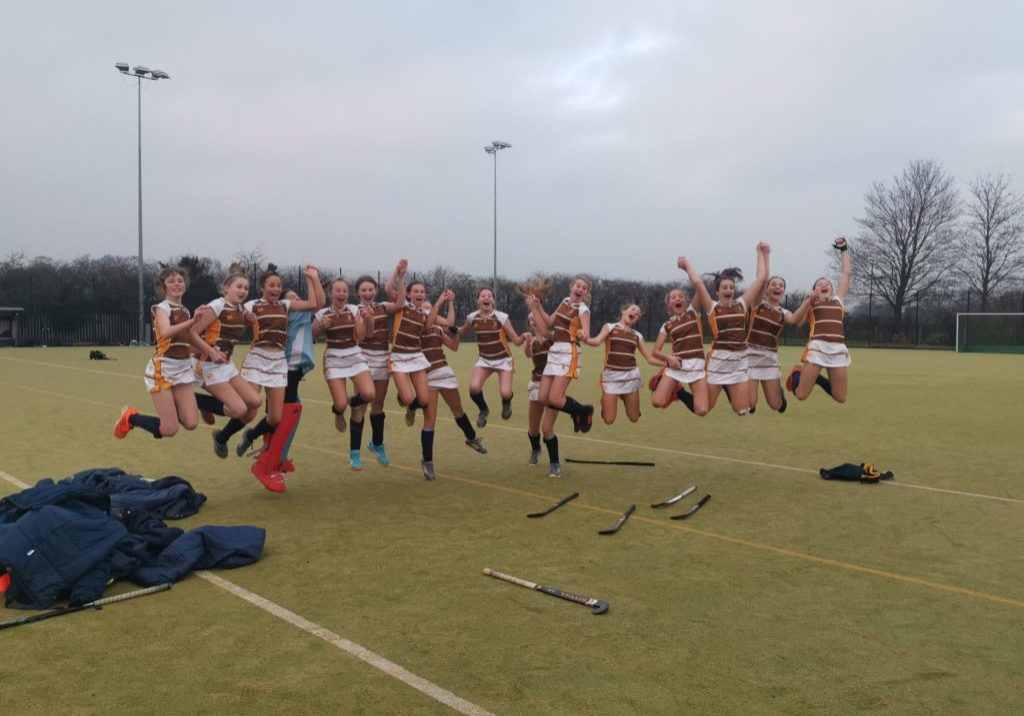 Sedbergh Hockey team celebrate victory