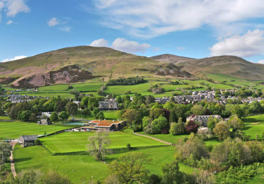 Drone image of Sedbergh