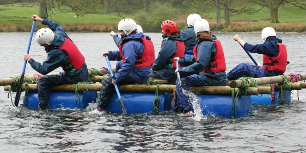 Sedbergh Senior School - Sailing Raft Building